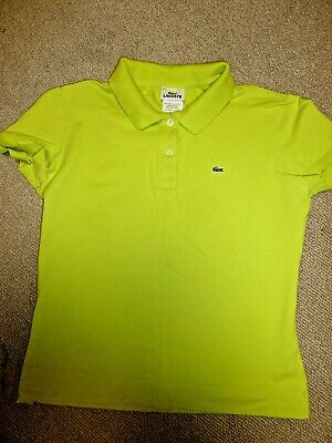 Lacoste Lime Green  Classic Women's Alligator Polo Shirt Size 42