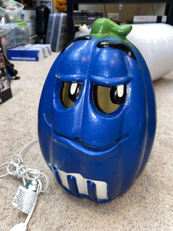 M&M's Candy blue light up Halloween pumpkin 12