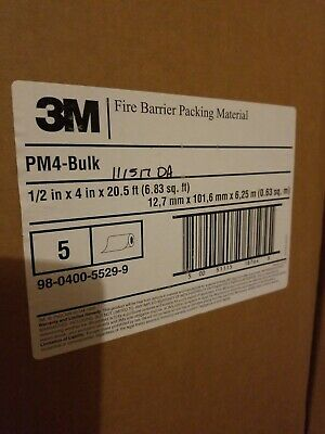 3m Fire Barrier Packing Material 5 Roll Pricepm4 4 Hour 12 In X 4 In X 20.5