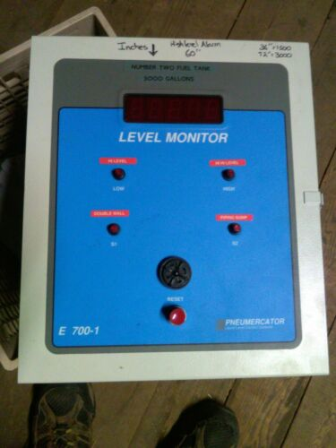 Pneumercator E 700-1  Tank Sensor and Level Monitor