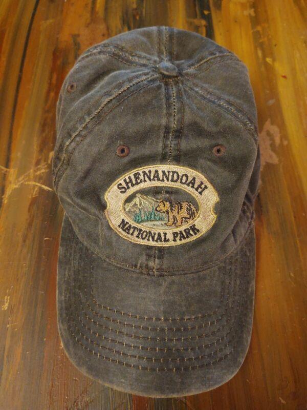 Shenandoah National Park Hat Cap Cotton Brown Triangle Sport Headwear Adjustable