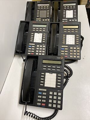 Lot Of 5 Lucent 8410d Definity Multi Line Business Office Phone - Black