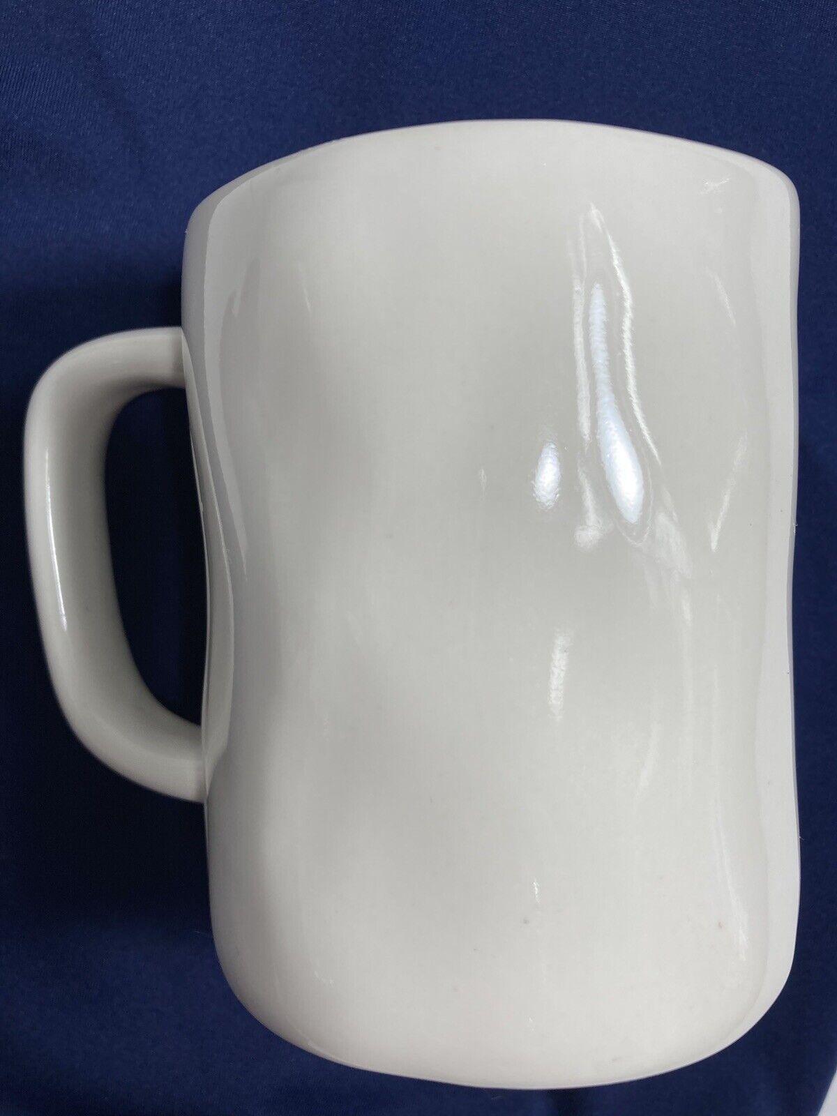 Rae Dunn HIS Artisan Collection Magenta White Coffee Mug Large Black Letters - $14.00