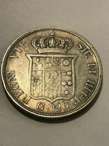 1834 Naples Silver Ferdinan 120 Grana Fine #20607