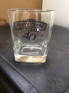 Forty creek whisky glasses (6) and 10 tequila shot glasses