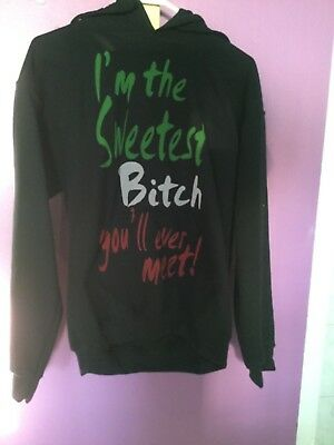 I'M THE SWEETEST BITCH YOU'LL EVER MEET SEASIDE HEIGHTS JERSEY SHORE HOODIE S  ()