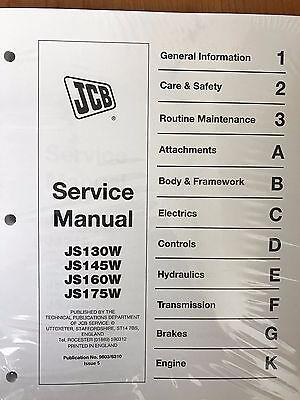 Jcb Service Manual Js130w Js145w Js160w Js175w Wheeled Excavator