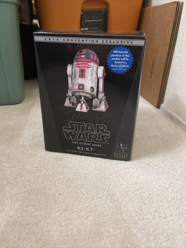 Signed  Autograph Dave Filoni Star Wars R2-KT SDCC 2014 303/500 Gentle Giant