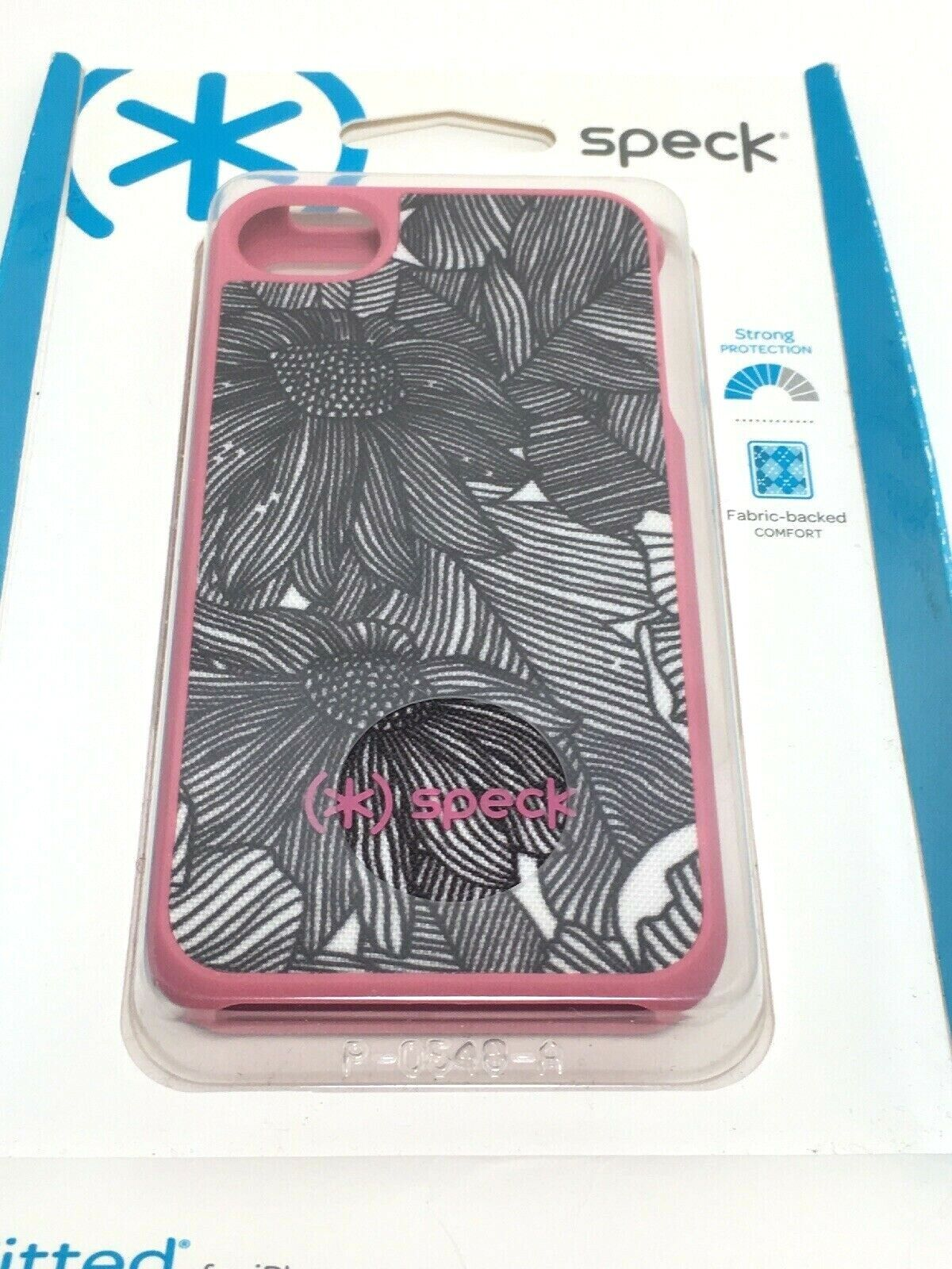 Speck Fitted iPhone Case 4/4S Pink Black White Floral Flower