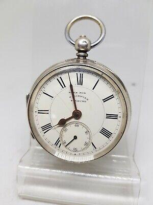Antique solid silver gents D. Gardner Tenbury pocket watch 1887 working ref1220