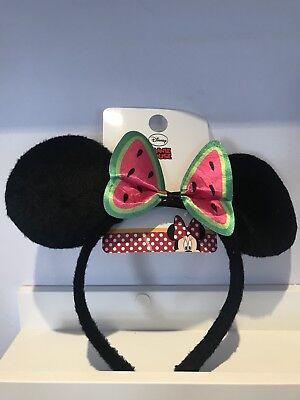 Neu mit Etikett Minnie Maus Ohren Stirnband Disney Wunderland Welt Schleife