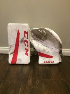 CCM pads and gloves
