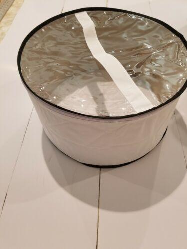 Large hat box white with black trim