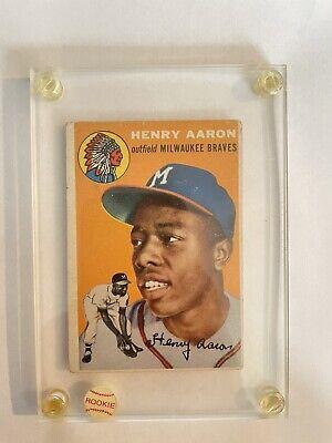 1954 Topps Hank Aaron Milwaukee Braves #128 Baseball Card
