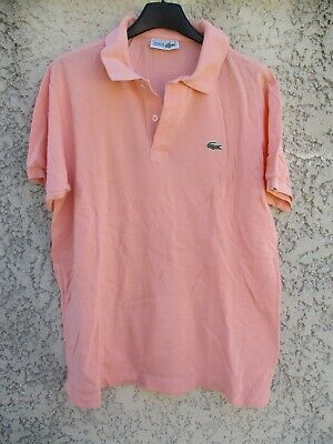Polo lacoste devanlay rose saumon coton jersey manches courtes made in france 5