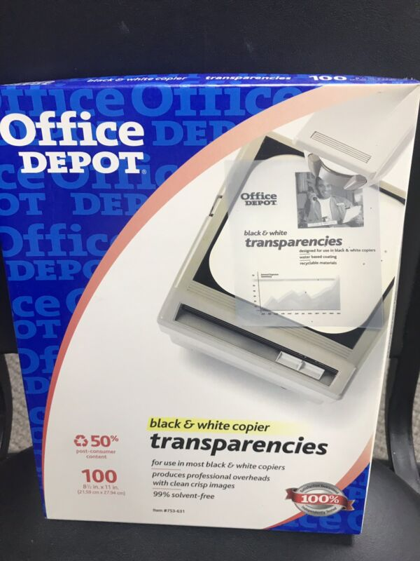 Office Depot Black & White Transparencies 8.5x11