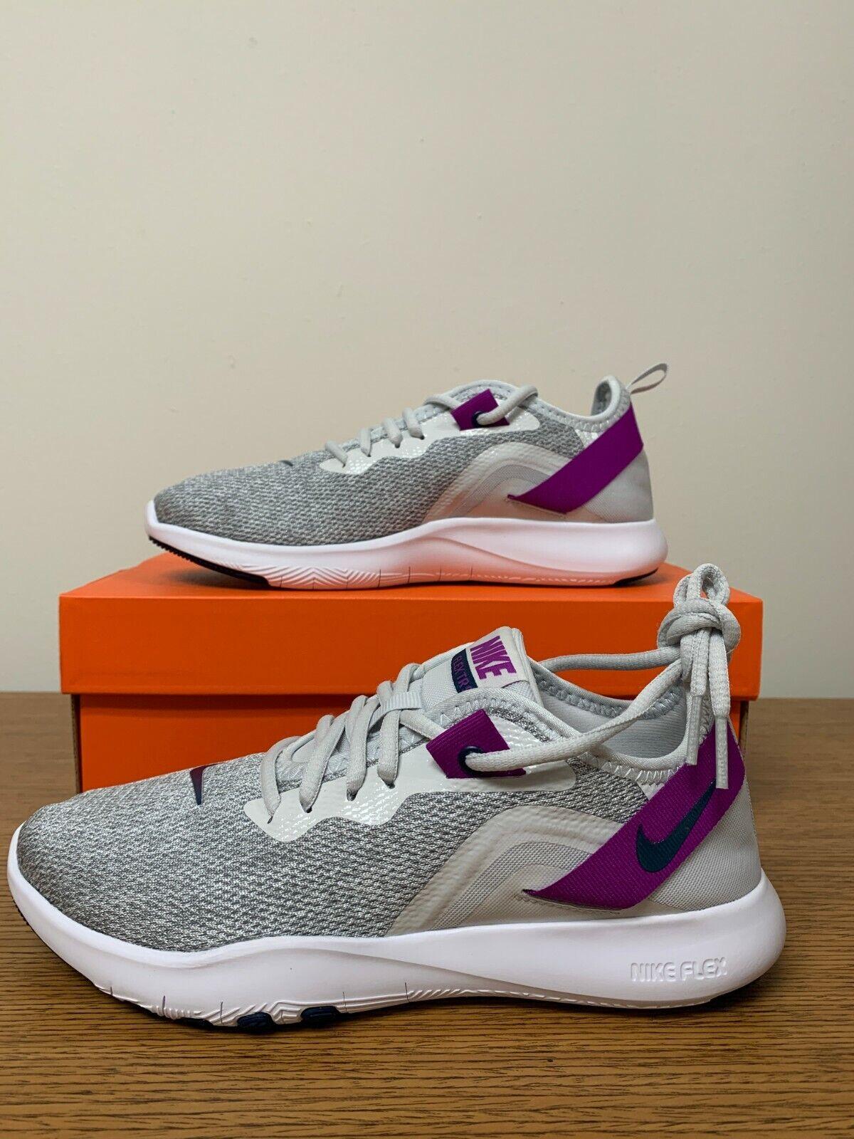 Nike Women's Flex Trainer 9 Cross Training Shoes Gray Purple AQ7491-009 NEW
