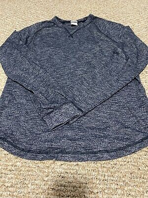 Abercrombie & Fitch Mens Muscle Fit L Large A&F Blue Gray Pullover Sweatshirt