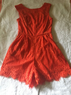 Playsuit Orange Lace(fully lined) Angel Biba brand size 8