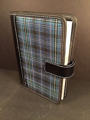 New Plaid Tartan Check Dayrunner Organizer 3 Ring Day Runner