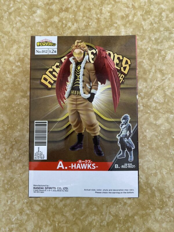 Banpresto My Hero Academia Anime Age of Heroes Figure Toy Keigo Hawks (IN-HAND)