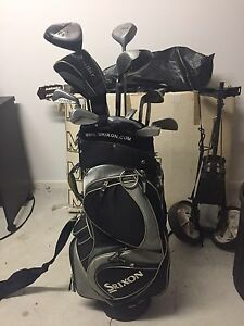 Mixed Set of Golf Clubs, Srixon Golf Bag and Buggy Carseldine Brisbane North East Preview