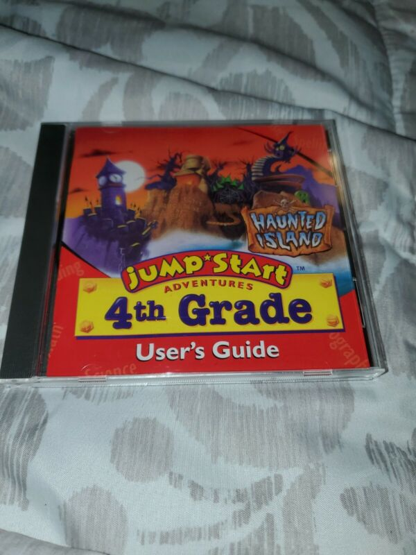Jump Start Adventures 4th grade Haunted Island 1996 CD and users guide
