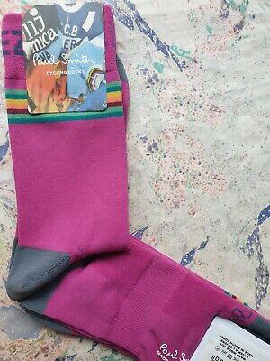 Paul Smith Mens Korean Cycle Socks Allez Calf Magenta Pink K798 Large...