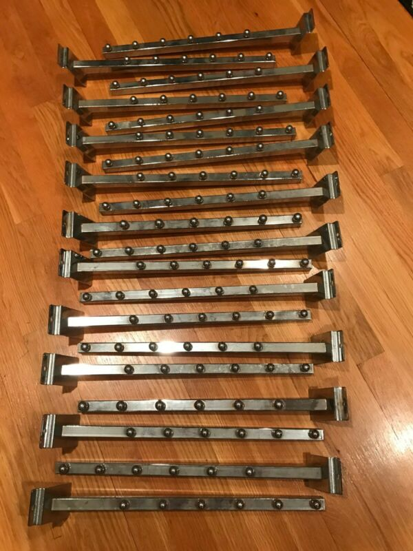 Lot of 20 Chrome in Color. Six Ball Waterfall Slat Wall Brackets