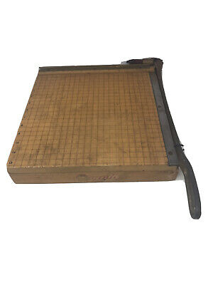 Vtg Ingento Cutting Board Paper Cutter No. 4 With 12 Blade And Cast Iron Handle