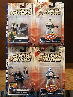 Star Wars Clone Wars Bonus Action Figure Lot Of 2 MOC HTF Hasbro Clone Trooper