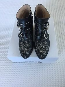 Chloe silver nappa dream leather boots size 38 Woollahra Eastern Suburbs Preview