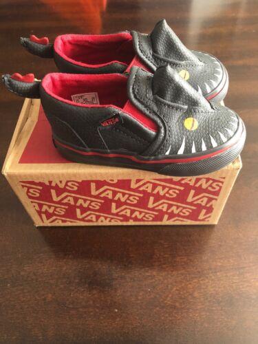 Vans ASHER V Vansosaur Baby Toddler Shoes 4.5 Dinosaurs Slip