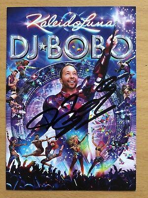 Dj Bobo AK KaleidoLuna Tour 2019 Autogrammkarte original signiert