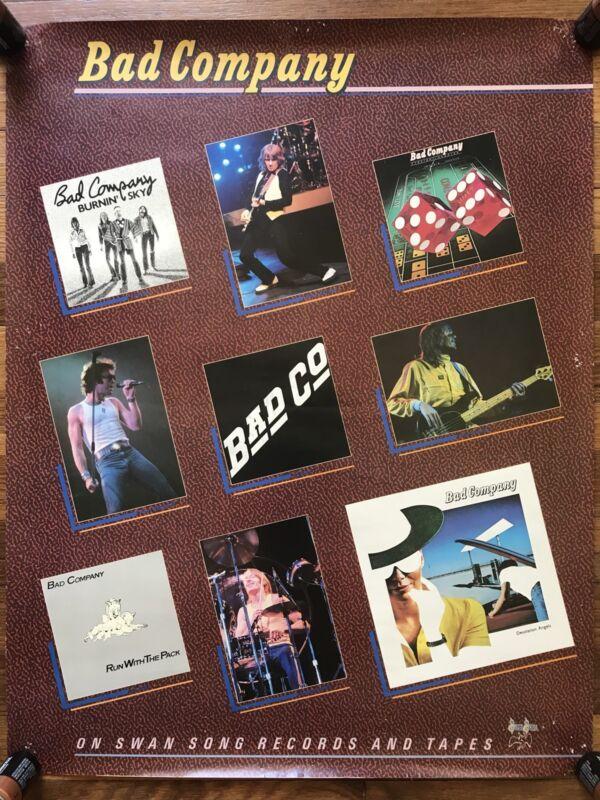 Bad Company Desolation Angels + Catalog RARE original promo poster 1979