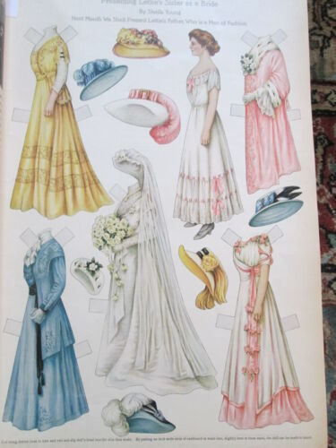 Bound Complete 1909 Year Ladies Home Journal w/ 10 Lettie Lane Paper Doll Pages