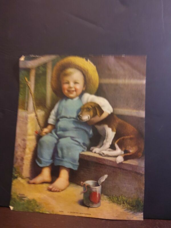 Ann Benson Muller a Country Gentleman kid with dog