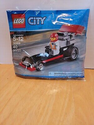 LEGO 30358 City Dragster - Polybag w/Racecar Driver Minifig New Sealed