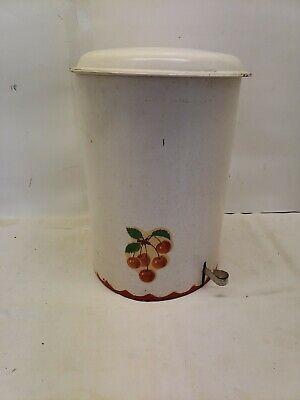 Vintage Foot Pedal Wastebasket/Trashcan, Mid Century