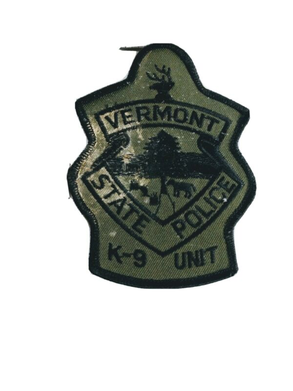G Police patch patches Vermont state K9 K-9 unit subdued has issues