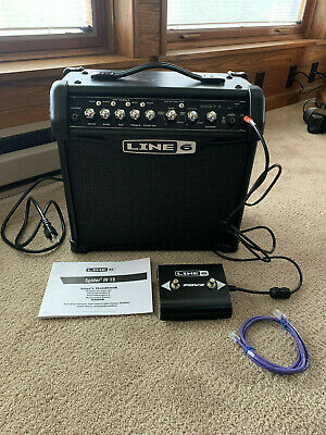 Line 6 Spider IV 15 15W 1x8 Guitar Combo Amp w/ FBV2 Footswitch