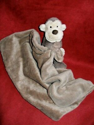 Little Jellycat London Brown Monkey Security Blanket Love Plush Monkey