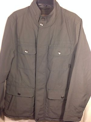 Men's Coach Grey Nylon Zip Down Hidden Hooded Field Jacket~83615~Small~NWT $498
