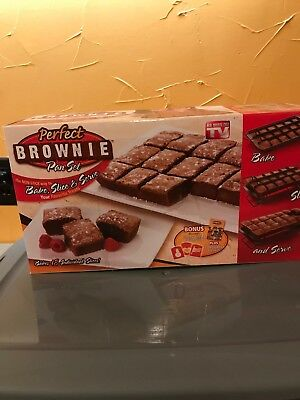 "Perfect Brownie Pan Set & Recipe Guide ""As Seen On TV"" Perfect Brownie Pan Set"