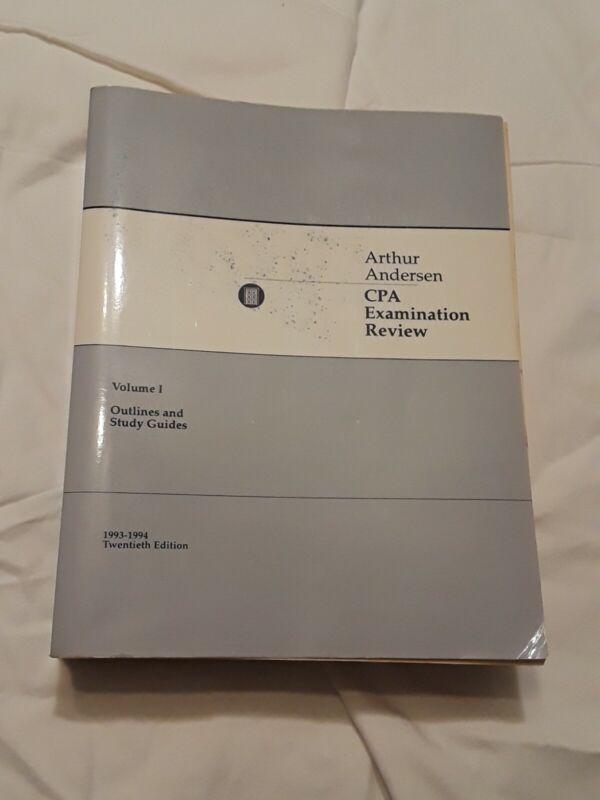 Vintage Arthur Andersen CPA Exam Review 20th Edition 1993-1994