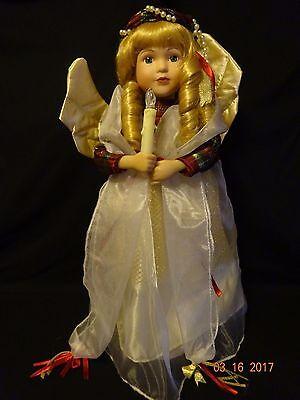 """Vintage Christmas Angel Animated & Musical 18"""" Tall 1980's"""