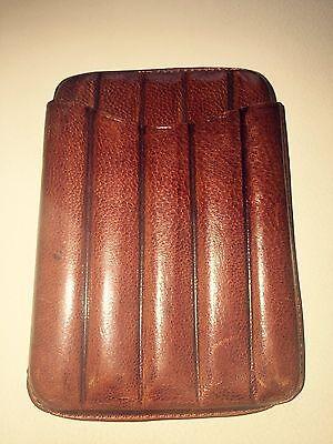 Diverse antike Zigarren - und Zigaretten Artikel - echt Leder - siehe weitere Ar