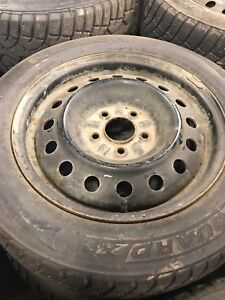 205/60/16 used studded winter tires on rims