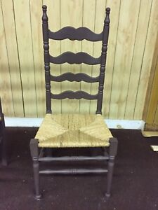 6 antique ladder back dining room chairs