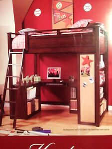 Hunter Loft Bed (by Whalen) with desk/power center